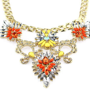 Beautiful Statement Necklace With CZ Inlay